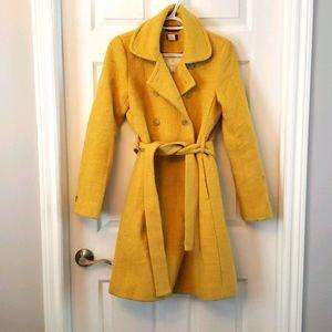 J crew wool jacket yellow size 6